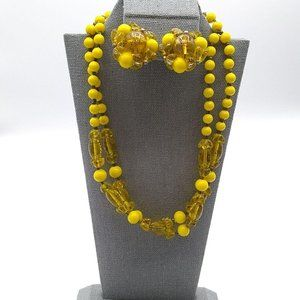 Jewelry - Yellow Beads Double Strand Choker, Western Germany